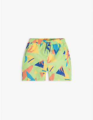 BOARDIES: Graphic-print swim shorts 1-13 years