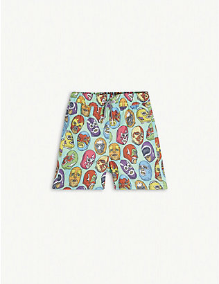BOARDIES: Mexican mask print swim shorts 1-13 years
