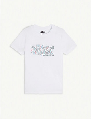 BOARDIES: Don Pendleton print cotton T-shirt 1-10 years
