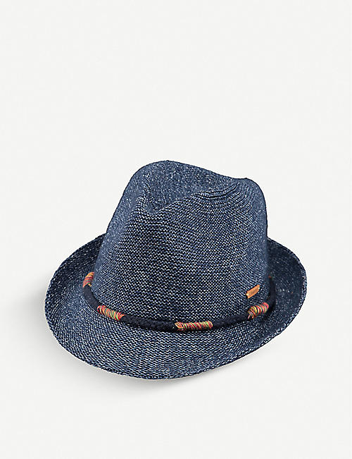 BARTS AL Kids Jinotega woven cotton-blend trilby hat