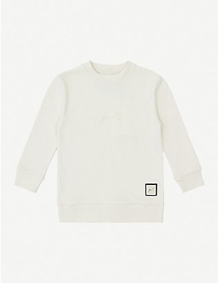 PREVU: Logo-embroidered cotton sweatshirt 4-14 years