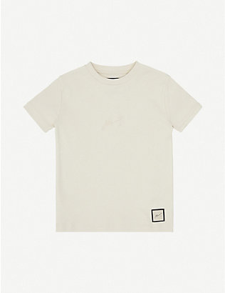 PREVU: Logo-embroidered cotton T-shirt 4-14 years