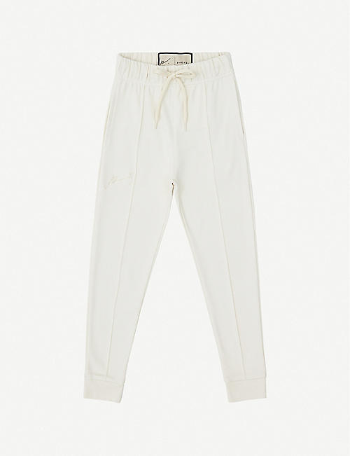 PREVU Logo-embroidered cotton jogging bottoms 4-14 years
