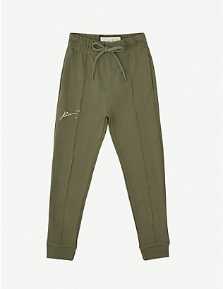 PREVU: Logo-embroidered cotton jogging bottoms 4-14 years