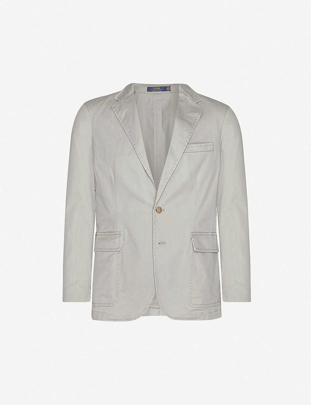 POLO RALPH LAUREN: Single-breasted slim-fit stretch-cotton blazer