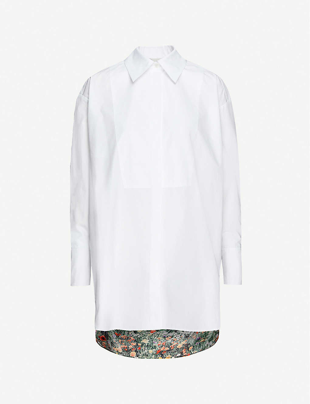 STELLA MCCARTNEY: Floral-print relaxed-fit cotton shirt