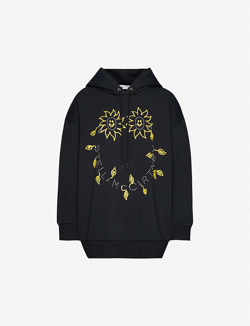STELLA MCCARTNEY: Graphic-print cotton-jersey hoody