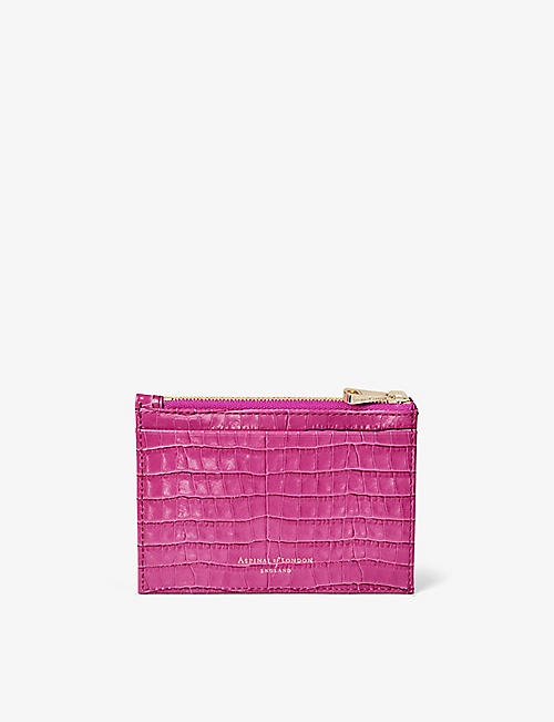 ASPINAL OF LONDON: Double-sided zipped leather cardholder