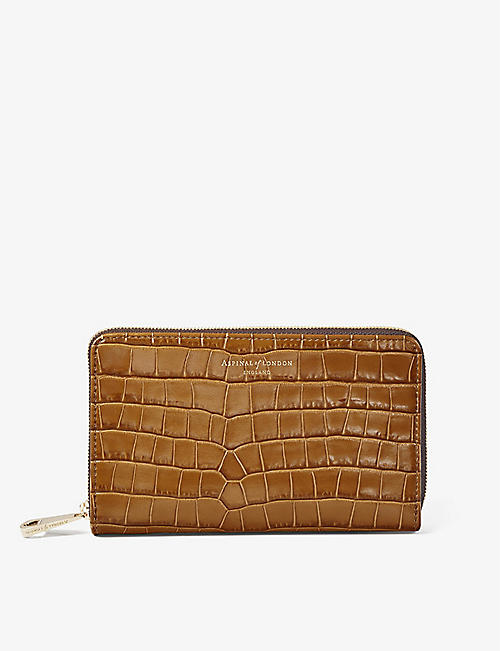 ASPINAL OF LONDON: Midi continental leather clutch wallet