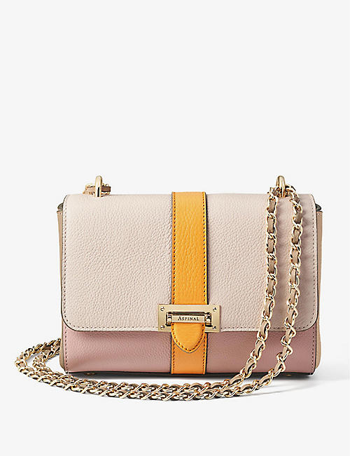 ASPINAL OF LONDON: Lottie small leather shoulder bag