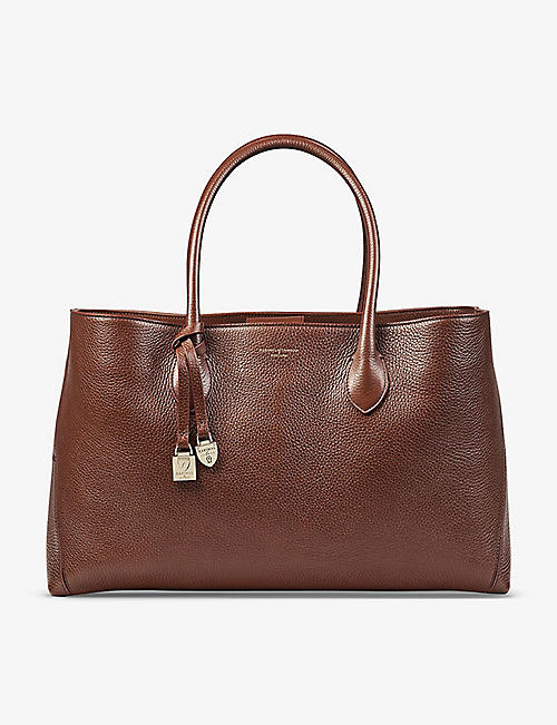 ASPINAL OF LONDON: London leather tote bag