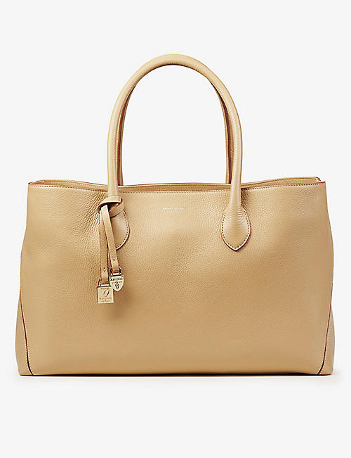 ASPINAL OF LONDON: London pebble leather tote bag