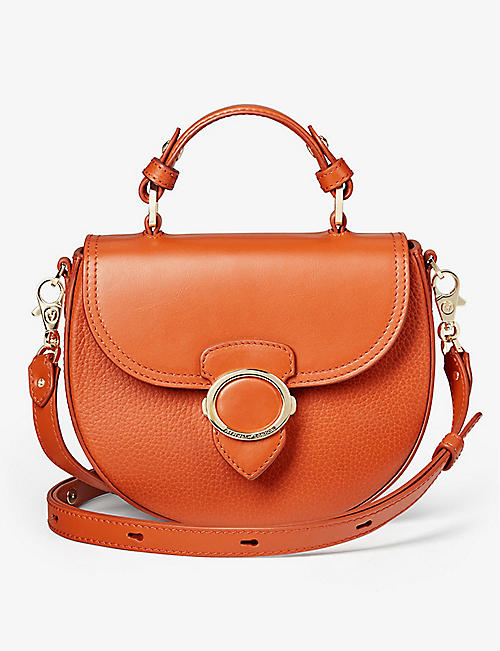 ASPINAL OF LONDON: Saddle Bag Marmalade Pebble