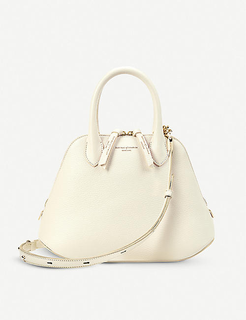 ASPINAL OF LONDON: Margot pebbled leather handbag