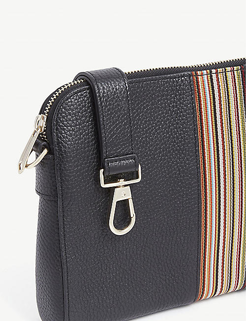 PAUL SMITH ACCESSORIES Ps Striped Washbag:BLACK:NO SIZE