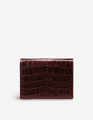 SMYTHSON: Mara leather bridge card case