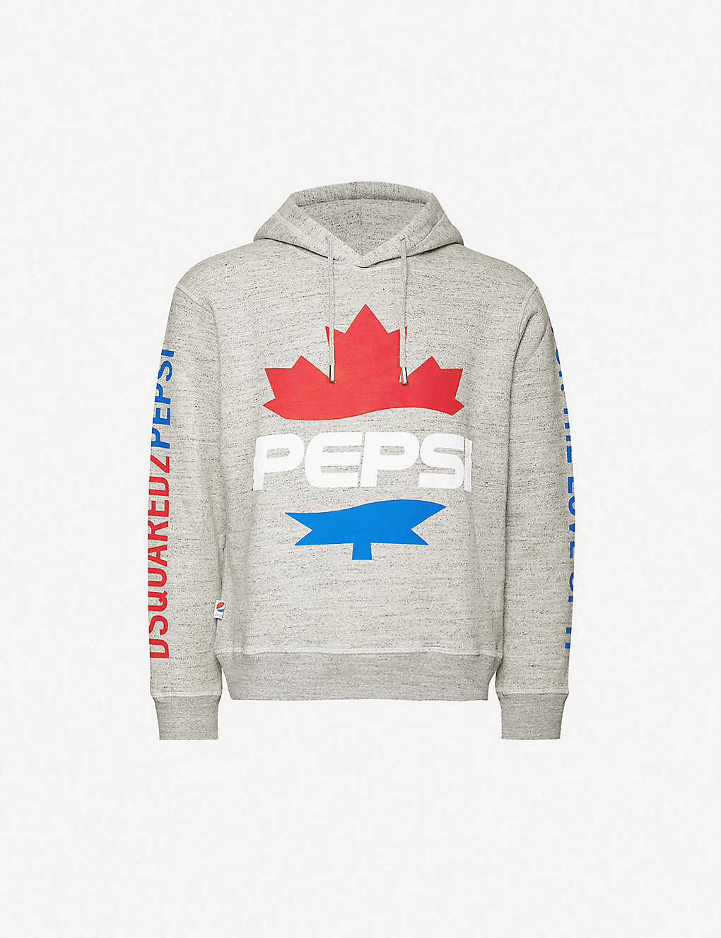 DSQUARED2: #D2XPepsi graphic-print cotton-jersey hoody