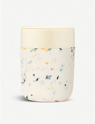 W&P DESIGN: Porter Terrazzo ceramic and silicone travel mug 355ml