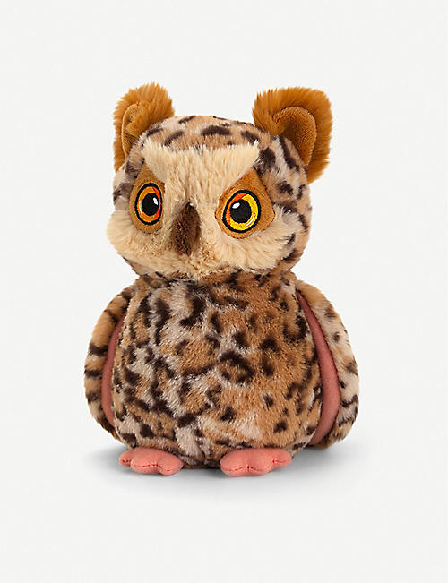 KEEL: Keel Eco Owl recycled-polyester soft toy 19cm