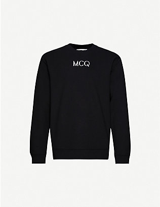 MCQ ALEXANDER MCQUEEN: Logo-embroidered cotton-jersey sweatshirt