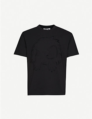 MCQ ALEXANDER MCQUEEN: Graphic-embroidered cotton-jersey T-shirt
