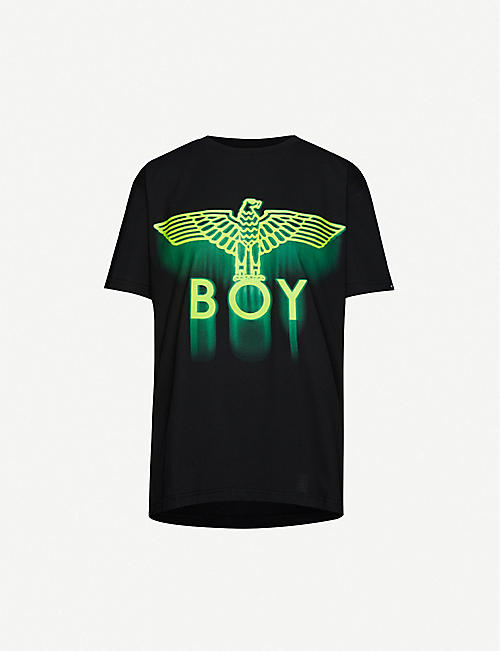 BOY LONDON: Ghost logo-print cotton-jersey T-shirt