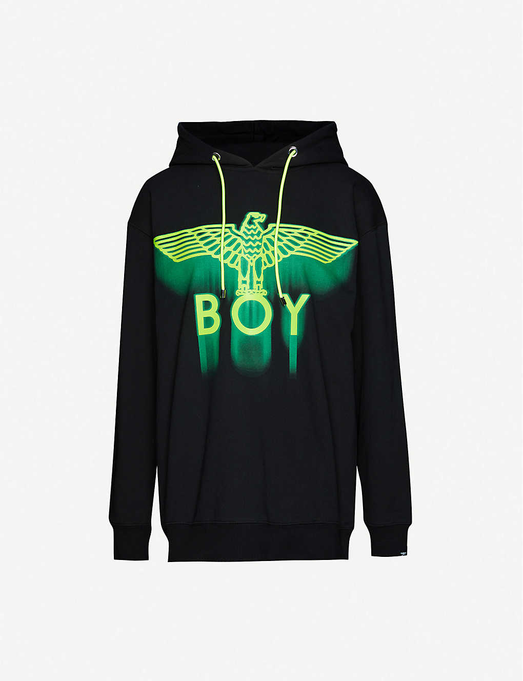 BOY LONDON: Ghost logo-print cotton-jersey hoody