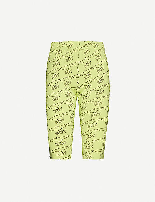 BOY LONDON: Logo-print cotton-jersey cycling shorts