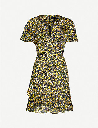 TOPSHOP: Floral-print woven mini dress