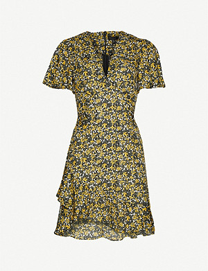 TOPSHOP Floral-print woven mini dress