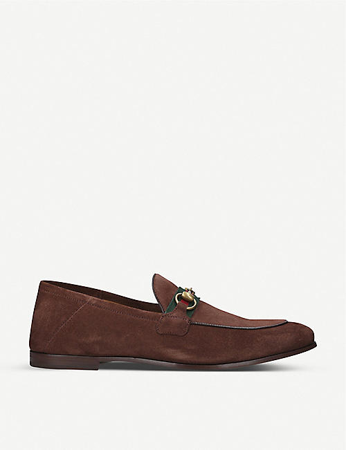 GUCCI: Brixton suede loafer