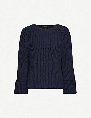 ME AND EM: Statement cotton-blend jumper