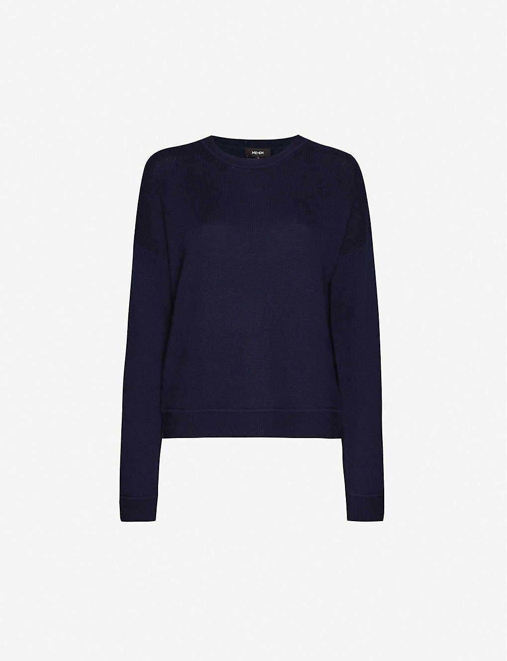 ME AND EM: Lofty round-neck cashmere jumper