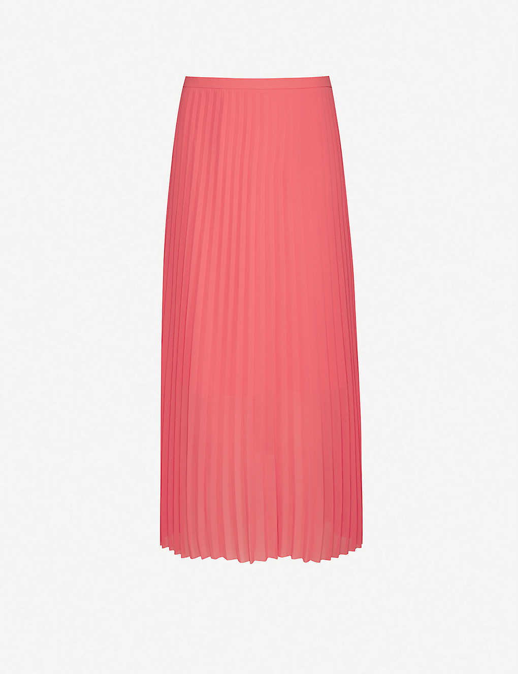 ME AND EM: Pleated woven midi skirt