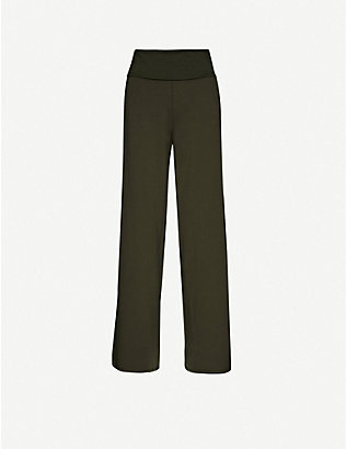 ME AND EM: Relaxed high-rise stretch-jersey trousers