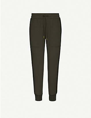 ME AND EM: Tapered mid-rise stretch-jersey trousers