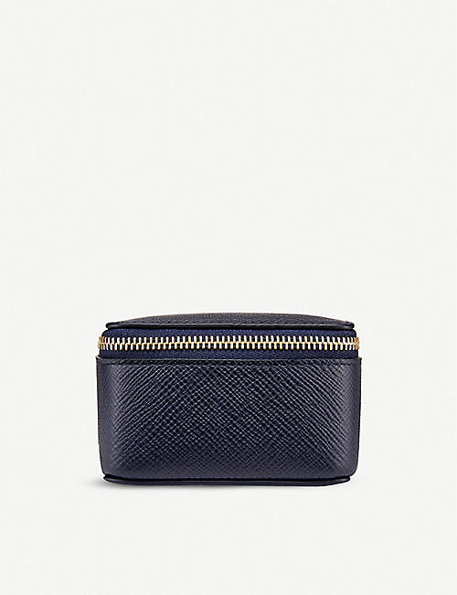 SMYTHSON: Panama medium crossgrain calfskin-leather trinket case