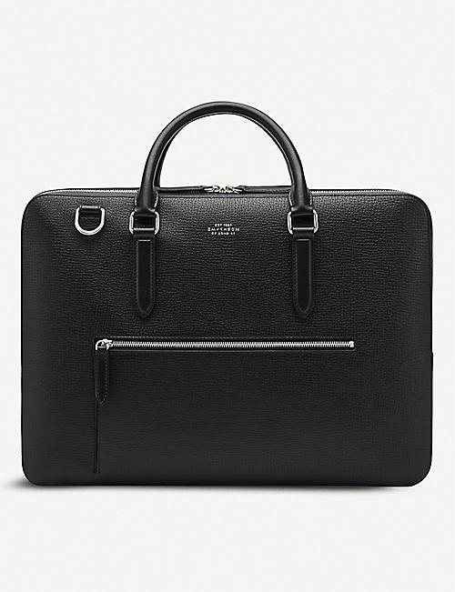 SMYTHSON: Ludlow large leather briefcase