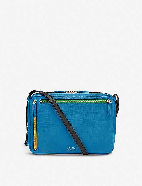SMYTHSON: Panama crossgrain leather crossbody bag