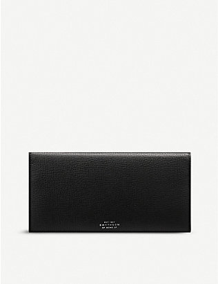 SMYTHSON: Ludlow slim leather travel wallet