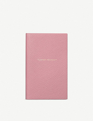 SMYTHSON Yummy Mummy Panama leather notebook 14cm x 9cm