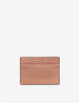 SMYTHSON: Ludlow cross-grain leather card holder