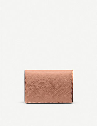 SMYTHSON: Ludlow cross-grain leather business and credit card case