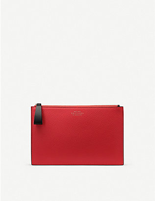 SMYTHSON: Panama leather pouch