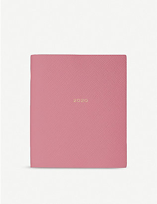 SMYTHSON: Crossgrain leather 2020 fashion diary 13.5cm x 11cm