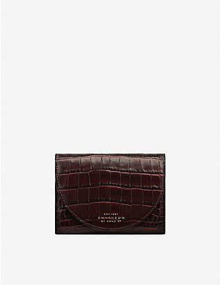 SMYTHSON: Mara Small Moon crocodile-embossed leather purse