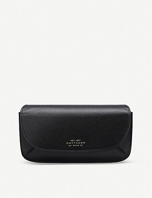 SMYTHSON: Panama Concertina leather sunglasses case