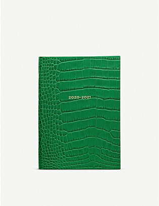 SMYTHSON: Soho 2020/21 mid-year leather diary 14cm x 20cm
