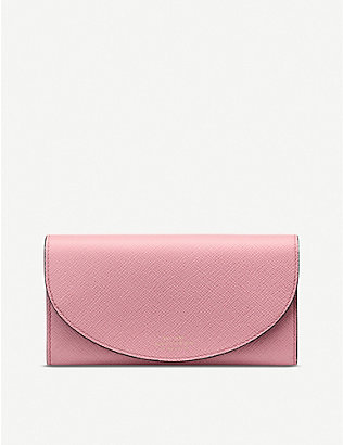 SMYTHSON: Panama Moon leather purse