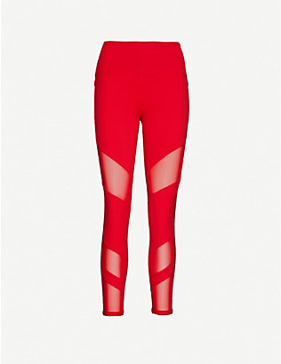LORNA JANE: Advantage Core mesh mid-rise stretch-woven leggings